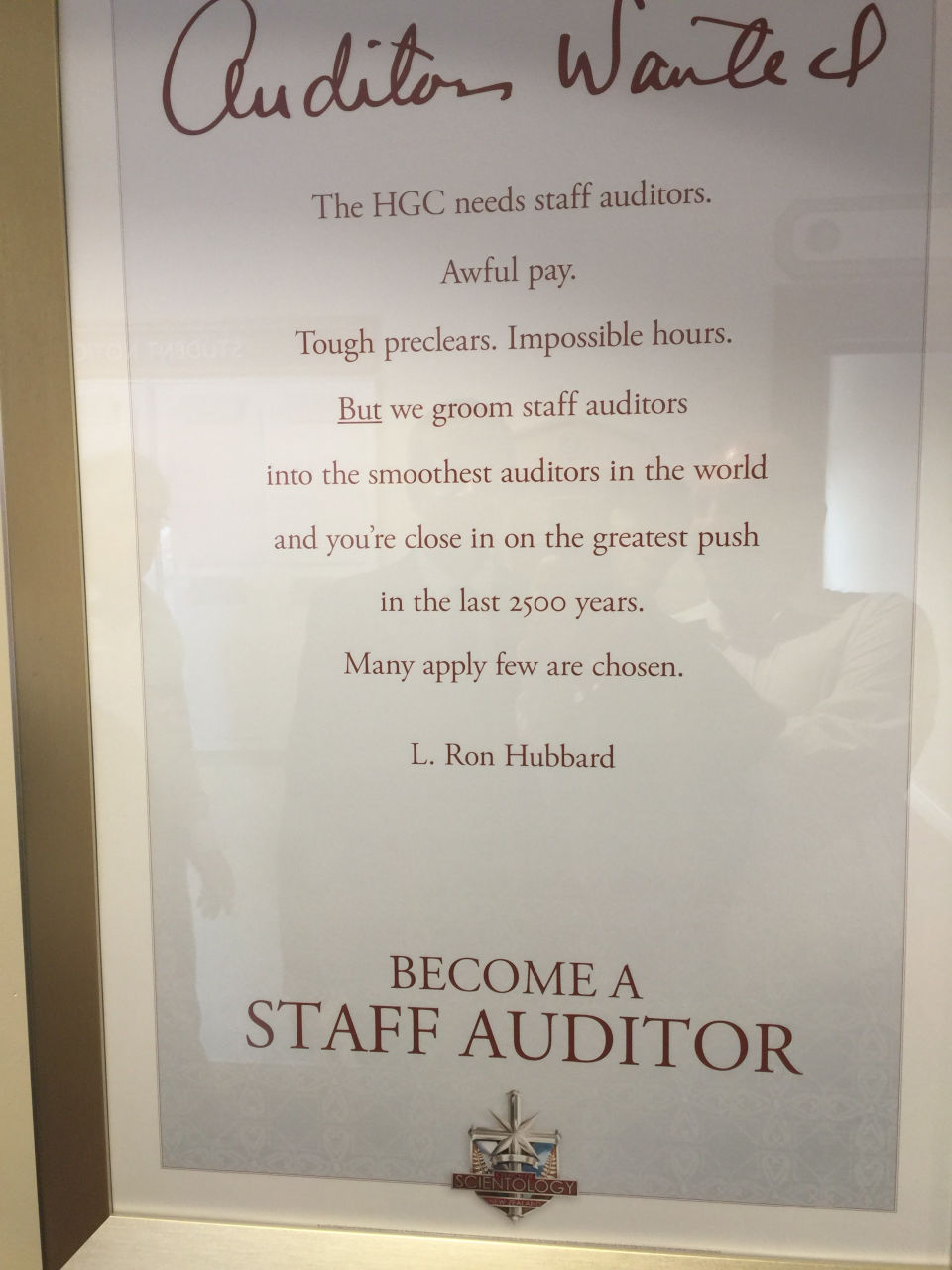 Auditors Wanted